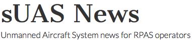 sUAS News Logo - image