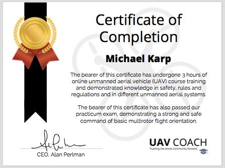 UAV Certificate