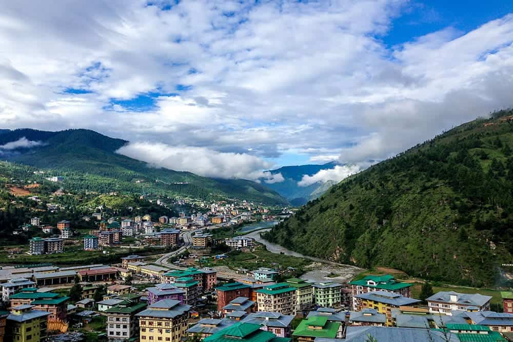 flying a drone in Bhutan