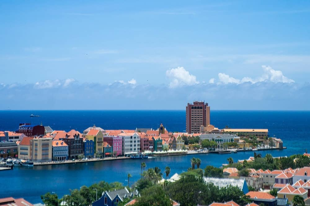 flying a drone in Curacao