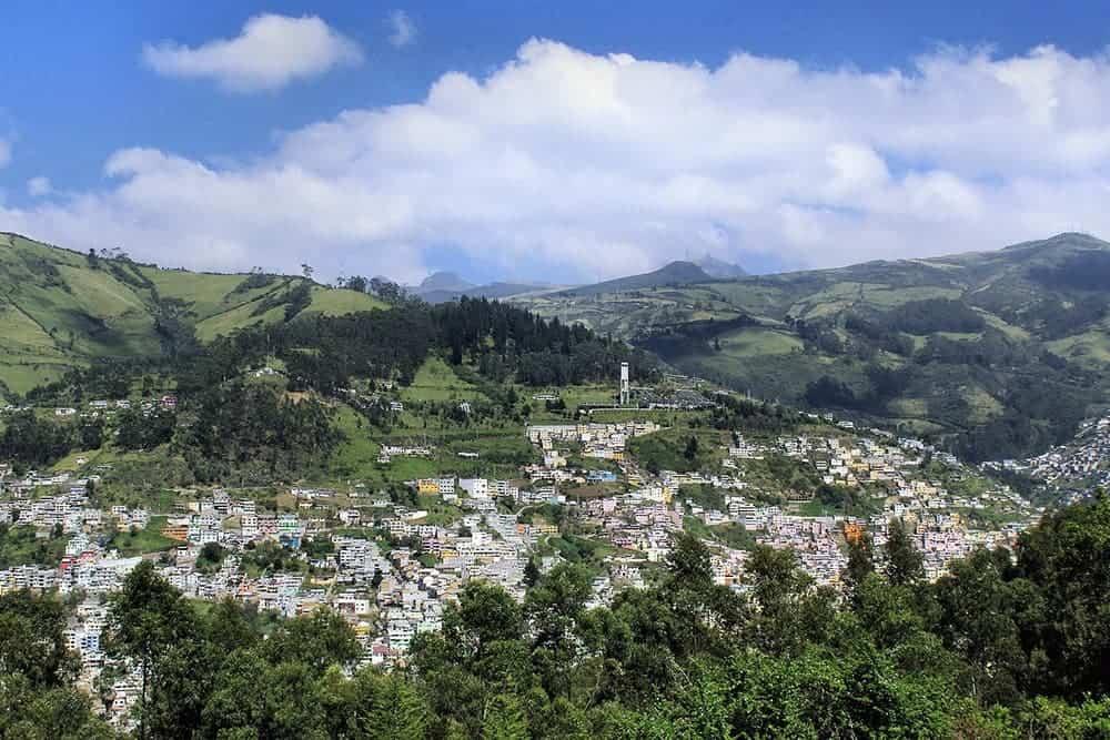 flying a drone in Ecuador