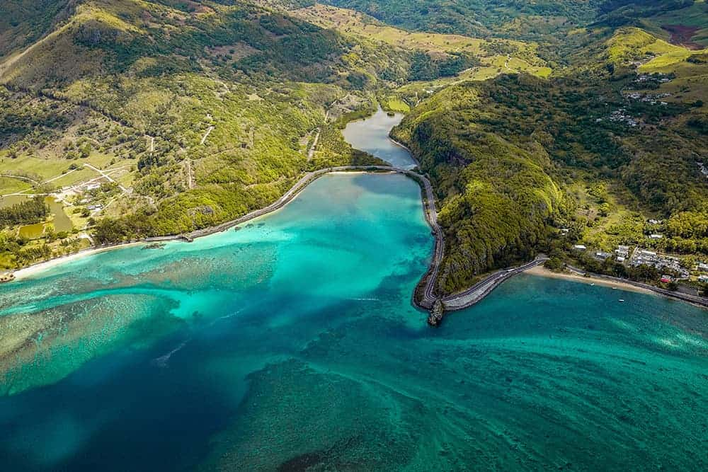 flying a drone in Mauritius