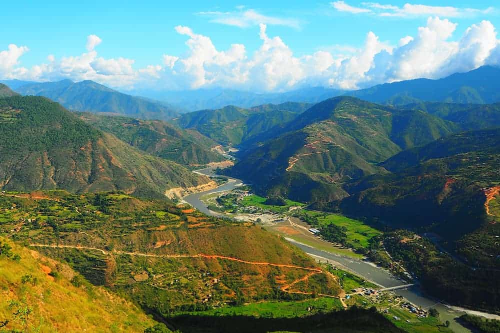 flying a drone in Nepal