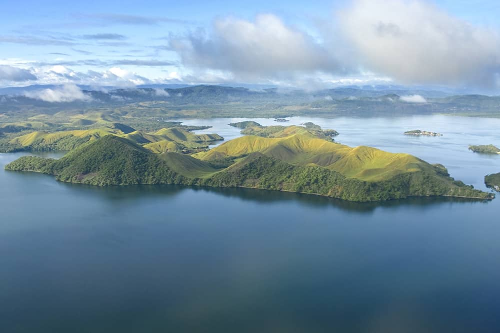 flying a drone in Papua New Guinea