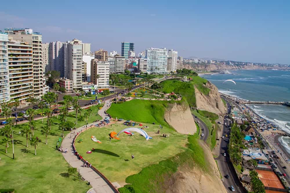 flying a drone in Peru