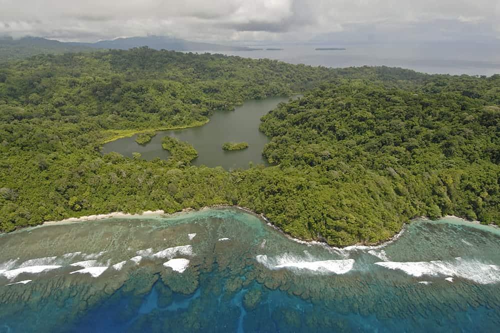 flying a drone in Solomon Islands