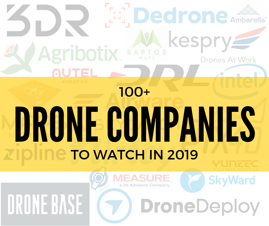 Top 100 Drone Companies to Watch in 2019 | UAV Coach
