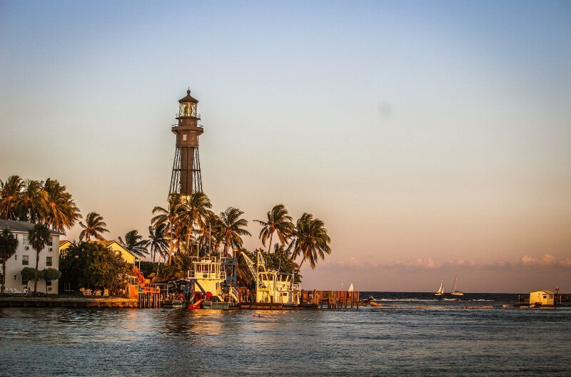 fly drone hillsboro inlet lighthouse