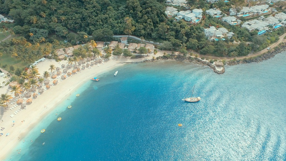 flying a drone in st lucia
