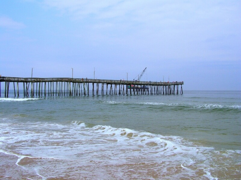 fly drone Virginia Beach Fishing Pier